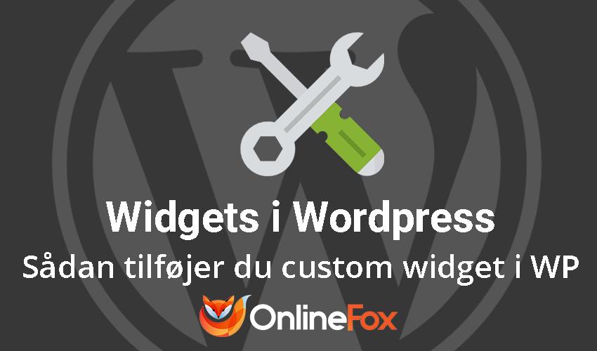 Sådan tilføjer du custom widget i dit WP admin-dashboard